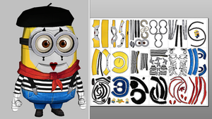 Mime Minion Papercraft Update + Unfold Info by Sabi996