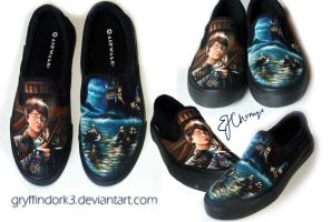 Harry Potter Shoes - The Philosopher's Stone by Gryffindork3