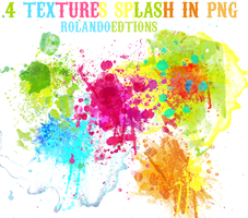 4 Splash Textures In PNG by RolandoEditions