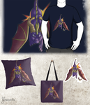 Original Spyro pillows, stickers and bags ! by floravola