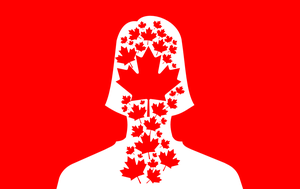 Facebook Profile Pic - Female Canada Day by AlienSquid