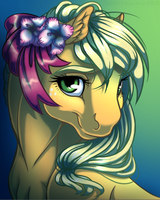 Applejack Portrait by KittehKatBar
