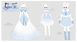 Ophia alternate outfits Sheet by Everglaves