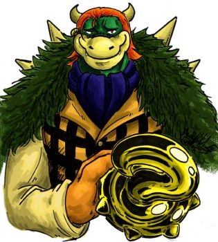 Crocodile Bowser Colored by KaleiC