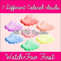 7 Cloud PNG Pack by thDianaDuh