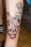 donald duck tattoo by D3adFrog