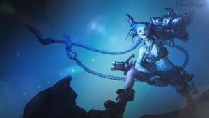 League of Legends ~ Jinx Background ~ by NovaShinigami