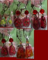 Resin Fruit Earrings Collage 2 by bluepaws21