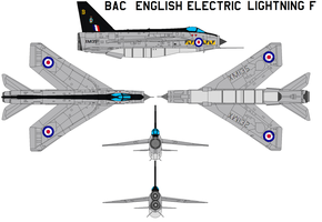 English Electric Lightning F by bagera3005