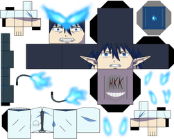 Rin Okumura Partial Demon Form p1 by hollowkingking