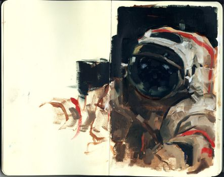 cosmonaut sketch by chajin