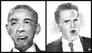 Obama vs. Romney by Sushibeth