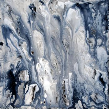 Black and White Fluid Painting by Mark-Chadwick