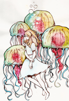 Jellyfish lady by ToxicBiscuits