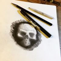 Charcoal Skull by libranchylde