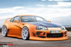 Toyota Supra Orange by mitsukodesign