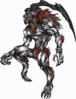 ifrit (kratos XD) by goodsnake