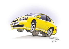 Holden Monaro Caricature by Stevep67