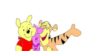 Winnie the Pooh and piglet and tigger by naniloke