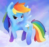 Rainbow Dash by Gingersnaap