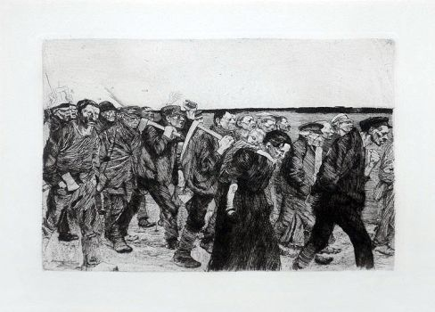 'March of The Weavers' etching 1897 by tanzafari