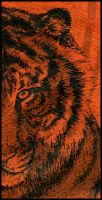 tiger in india ink 2 by LisaCrowBurke