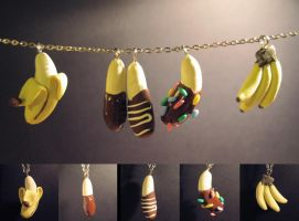 Yummy Banana Necklaces by kaylynh1