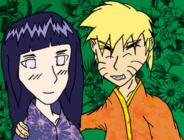 NaruHina Autumn Coloured by DensetsuShinobi