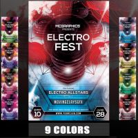 ELECTRO FEST PSD FLYER TEMPLATE by MCerickson