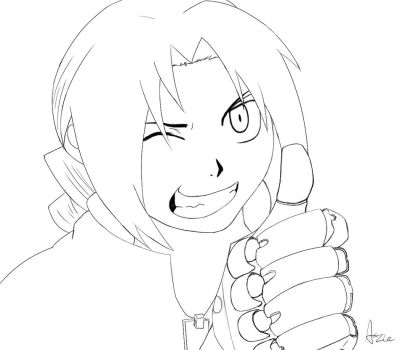 Edward Elric Line by AzariaTheDeviant