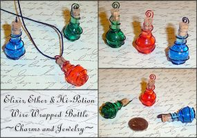 Final Fantasy - Potion Charms by YellerCrakka