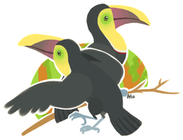 Toucans by MochaDude