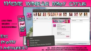 Theme WinRAR Miley Cyrus by PrettyLadybug093