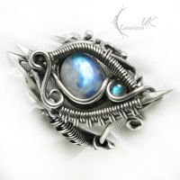 NEMMERTIEEN Silver,Moonstone and Labradorite by LUNARIEEN