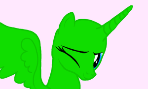 MLP Base: Alicorn Wink by FIMbases
