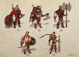 Master project : viking sketches by Mocrasar