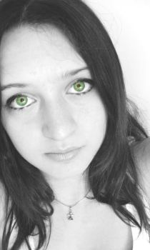 green eyes B and W by mivad by pyrospleen