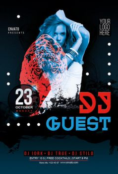 Dj Guest Party flyer and poster by iorkdesign
