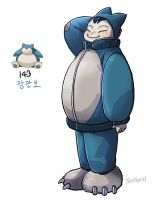 143.Snorlax by tamtamdi