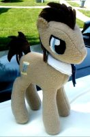 14 Inch Doctor Whooves/Time Turner Plushie by ScherzicScrawlings