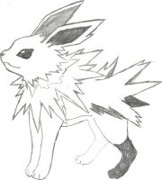 Jolteon Sketch by CoolMan666