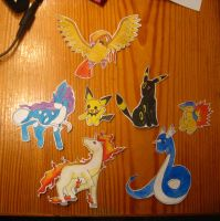 pokemon paperfigures by Engelmoon