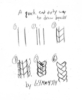 A quick and dirty way to draw braids by G4MM43T4