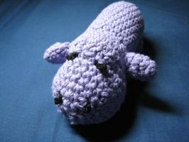Sad little Hippo Amigurumi by skookyspry