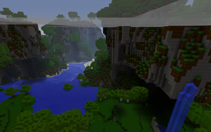 Minecraft Beta 1.3: Glacier by chriskronen