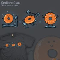 Cruller's Gym - tee by InfinityWave