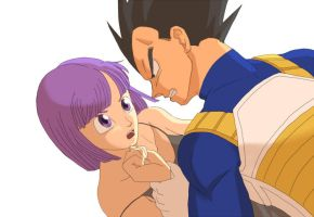 Vegeta and Bulma 4 by Ume-Sakura