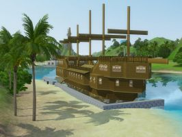 Sims 3 Pirate ship by RamboRocky