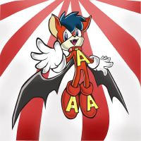 Aero the Acrobat, Sonic style by Inspectornills