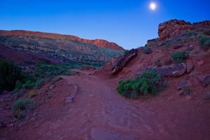 hiking by moonlight by kikukaya
